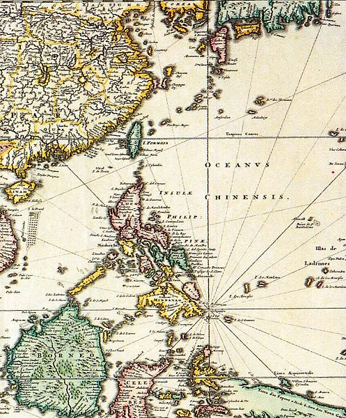 Asia Map Taiwan.File 1680 Map Of Formosa Taiwan Philippines And Other South East