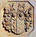 1702 circa Raugraf Karl Moritz, Pfalzgraf bei Rhein, Wappen auf der Grabplatte Epitaph an der Neustädter Hof- und Stadtkirche St. Johannis, Hannover.jpg