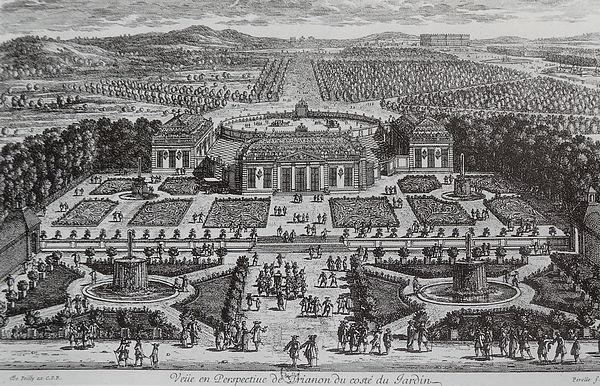 モンテスパン侯爵夫人のために造営された 『磁器のトリアノン』(小トリアン陶磁宮殿)。ヴェルサイユ宮殿付属庭園内の離宮であり、磁器に覆われていたという南京の仏塔に着想を得た東洋趣味建築であった[183]。