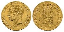 Dukaten Münze Königreich Holland, nur 1809 und 1810 in geringer Auflage geprägt (Quelle: Wikimedia)