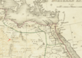 1835 Mourzuk map Northern Africa by Bradford BPL m0612003 detail.png