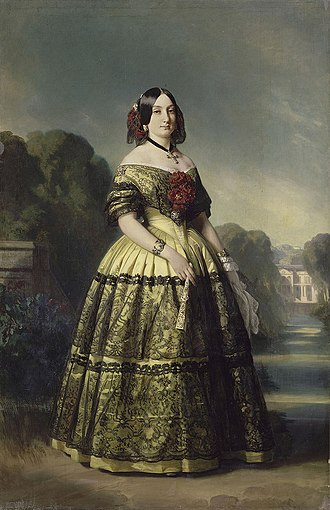 Duchess of Galliera - Image: 1847 portrait of the Duchess of Montpensier (Infanta Luisa Fernanda of Spain) by Winterhalter