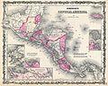 1862 Johnson Map of Central America - Geographicus - CentralAmerica-johnson-1862.jpg