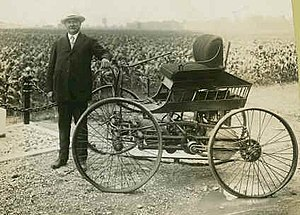 Elwood Haynes -  Elwood Haynes and his first car circa 1910.