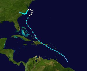1901 Atlantic hurricane season - Image: 1901 Atlantic hurricane 3 track
