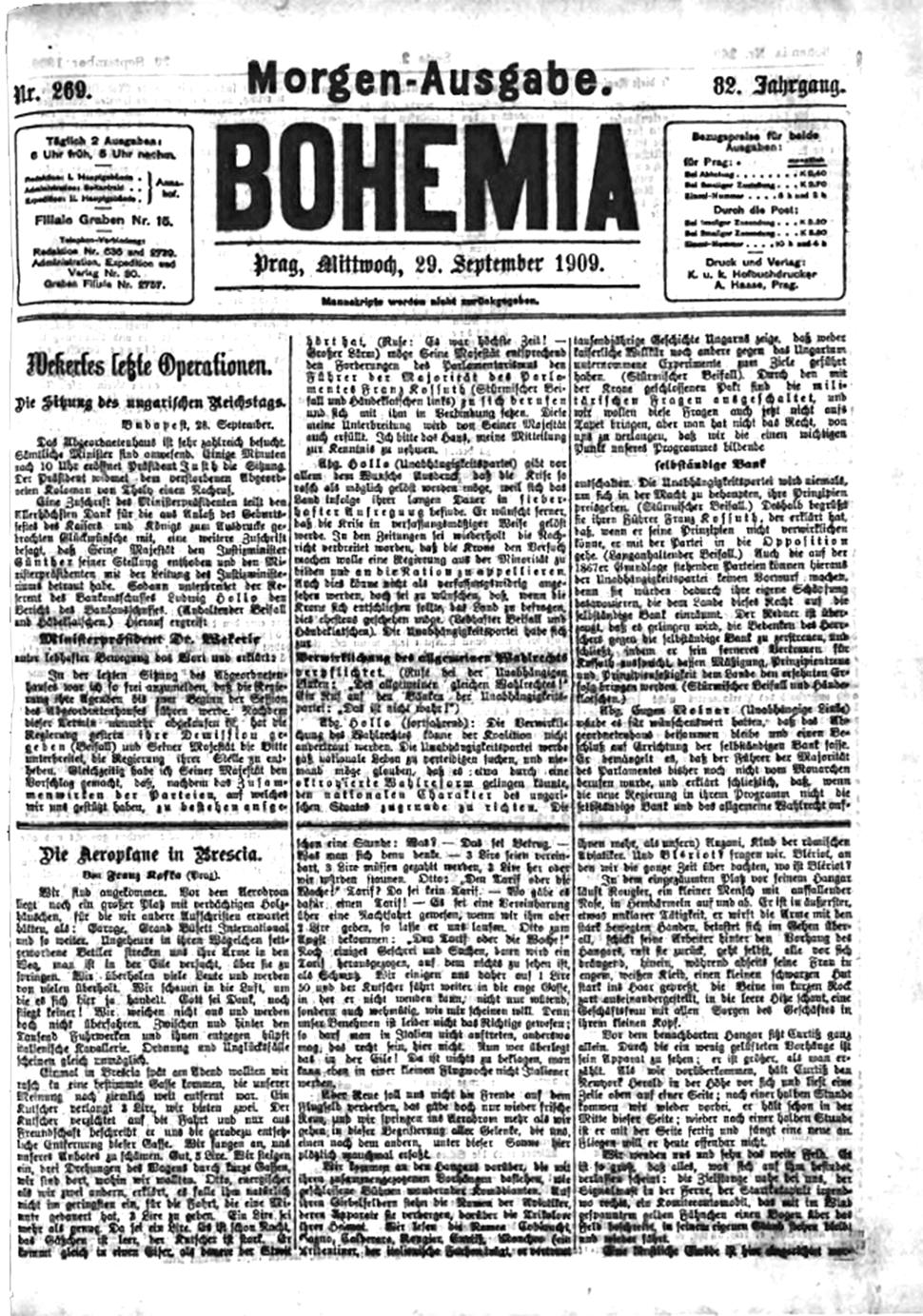 1909-09-29 Bohemia