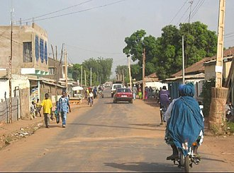 Upper River Division - A street in the province