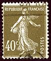 1925 Brun-olive France 40c Yv193.jpg