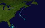 1937 Atlantika tropika ŝtormo 5 track.png