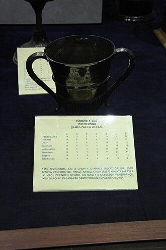 1959 Turkish National League - 1959 Millî Lig trophy on display in the Fenerbahçe Museum