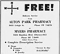 1960 - Alton Park - Myers Pharmacy - 30 Mar MC - Allentown PA.jpg