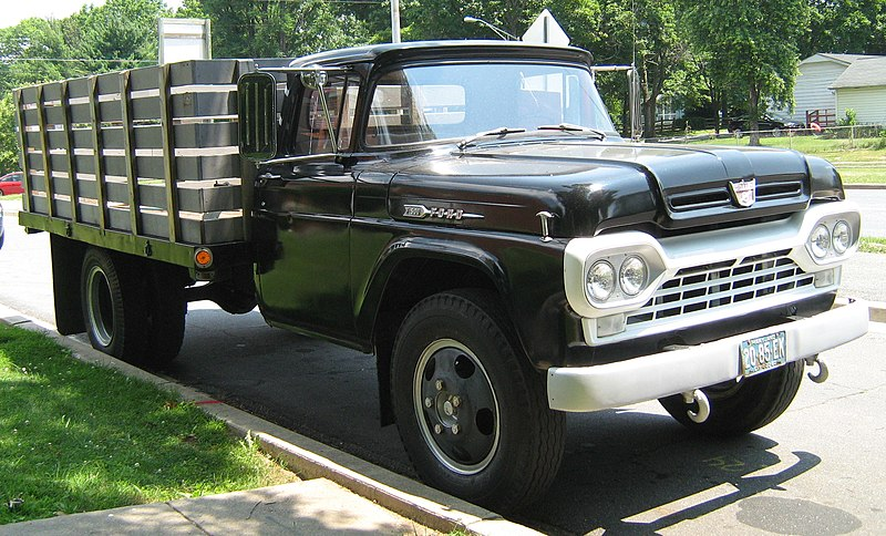 In 1959, Ford began in-house production of four-wheel drive trucks.
