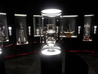 1961–62 S.L. Benfica season - The 1962  European Cup trophy on display at Museu Cosme Damião