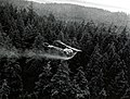 1963. Experimental application of Thuricide 90-T by Bell G-2 helicopter. Hemlock looper control. Long Island, Naselle, Washington. (33901436284).jpg