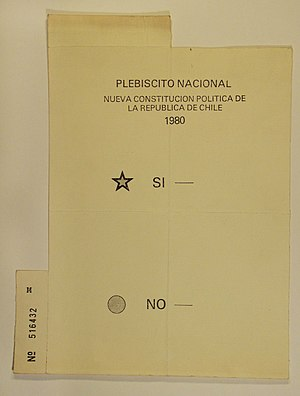 Chilean constitutional referendum, 1980 - Original ballot