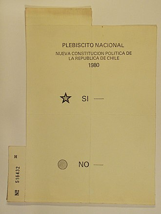 1980 Chilean constitutional referendum - Original ballot