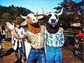 1984 Peter Kravchenko - Cow masks outside.jpg