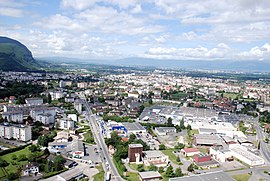 An aerial view of Annemasse