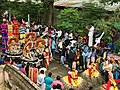 1st day procession with costumed Shiva with Trishul at the Hindu festival Onam in Kerala.jpg
