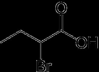 2-Bromobutyric acid - Image: 2 Bromobutyric acid 2D by AHRLS 2012