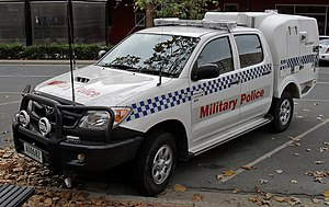 Royal Australian Corps of Military Police - RACMP vehicle