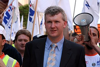 Tony Burke - Burke at a 2005 protest against the Howard Government's industrial relations policy