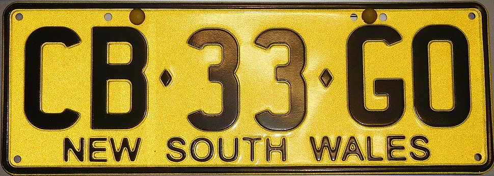 2005 New South Wales registration plate CB♦33♦GO
