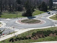 2008 03 12 - UMD - Roundabout viewed from Art Soc Bldg 4.JPG