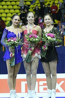 2008 European Figure Skating Championships Ladies Podium.jpg