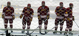 Ferris State Bulldogs men's ice hockey - Ferris State's starting lineup for a 2009-10 game against Michigan