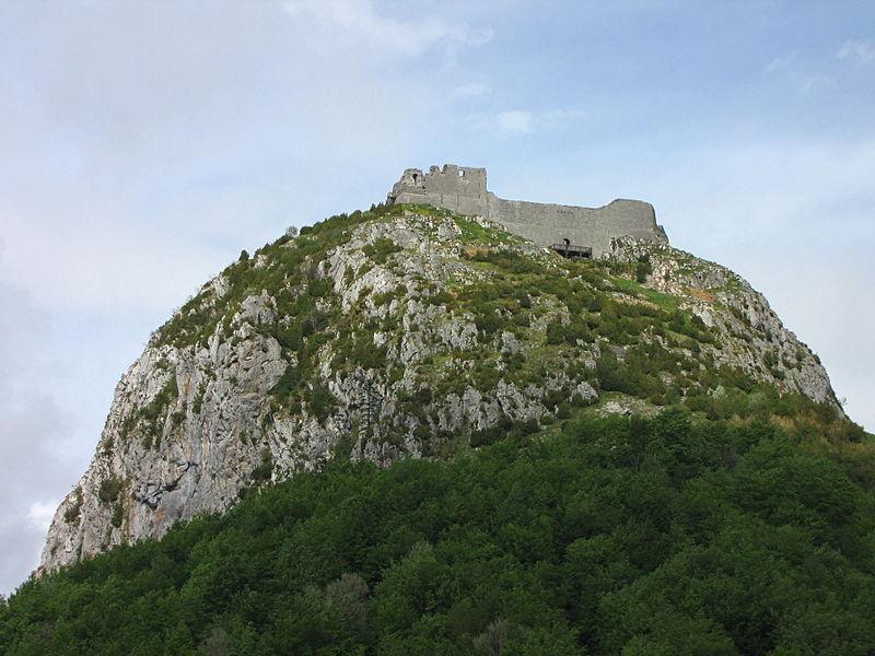 Château de Montségur, vu de l'ouest