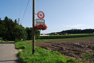 Golaten - Fields at the municipal border