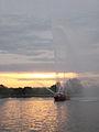 20120414 John H Glenn fireboat sunset.JPG