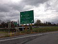 2014-11-01 13 57 17 Sign along the ramps from the Pennsylvania Turnpike (I-76) to Interstate 83 in Fairview Township, Pennsylvania.JPG