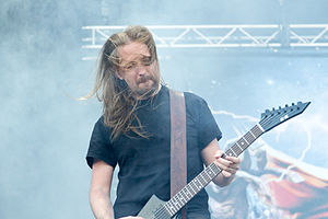 Amon Amarth - Johan Söderberg at Nova Rock 2014