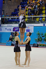 2014 Acrobatic Gymnastics World Championships - Women's group - Qualifications - Hong Kong 04.jpg