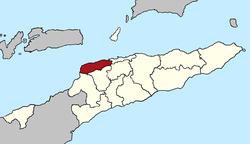 Vị trí quận Liquiçá tại Đông Timor