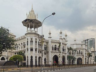 Eclecticism in architecture - Indo-Saracenic Revival architecture: Kuala Lumpur Railway Station, Malaysia, by Arthur Benison Hubback, 1910