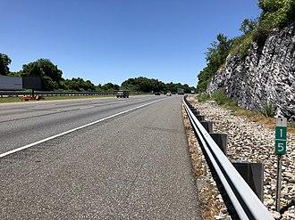Alpha, New Jersey - I-78 westbound through Alpha