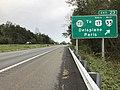 2018-10-15 12 52 59 View east along Interstate 66 at Exit 23 (Virginia State Route 731, TO U.S. Route 17 WEST and Virginia State Route 55 WEST, Delaplane, Paris) in Delaplane, Fauquier County, Virginia.jpg