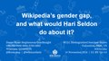 2018 OCLC DSS - Wikipedia's gender gap, and what would Hari Seldon do about it.pdf