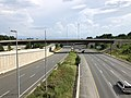 2019-07-04 16 25 32 View south along the southbound lanes of Interstate 495 (Capital Beltway) from the overpass for Interstate 66 on the edge of Idylwood and Merrifield in Fairfax County, Virginia.jpg