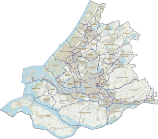 Provincie Zuid-Holland, gemeenten (2019)