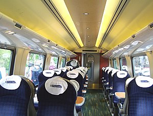 British Rail Class 221 - The interior of First Class