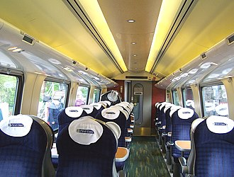 British Rail Class 220 - The interior of First Class aboard a Class 220