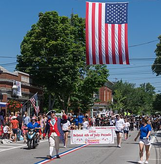 Bristol, Rhode Island - Start of the 231st Bristol Fourth of July Parade in 2016.