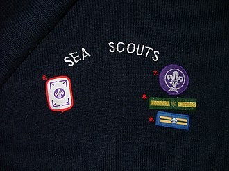 Sea Scouts (The Scout Association) - A Sea Scout jersey carrying the badges used from 1984 to 2002.