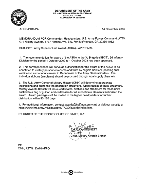 Example Us Army Authentication Letter