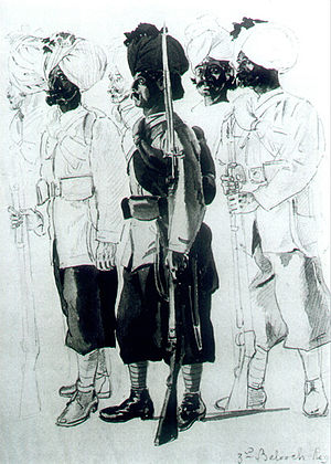 130th Baluchis - Image: 30th Regiment (Bombay) Native Infantry (3rd Belooch Battalion)