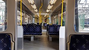 British Rail Class 314 - Refurbished interior of 314208 at Glasgow Central station
